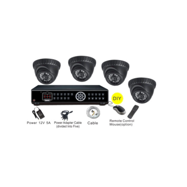 4 kogel dome camera's