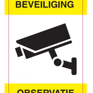 Sticker camera beveiliging